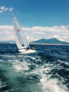 SAIL IN BAY OF NAPLES.