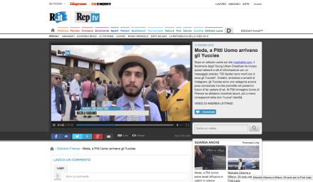 REPUBBLICA TV - Pitti uomo 88.